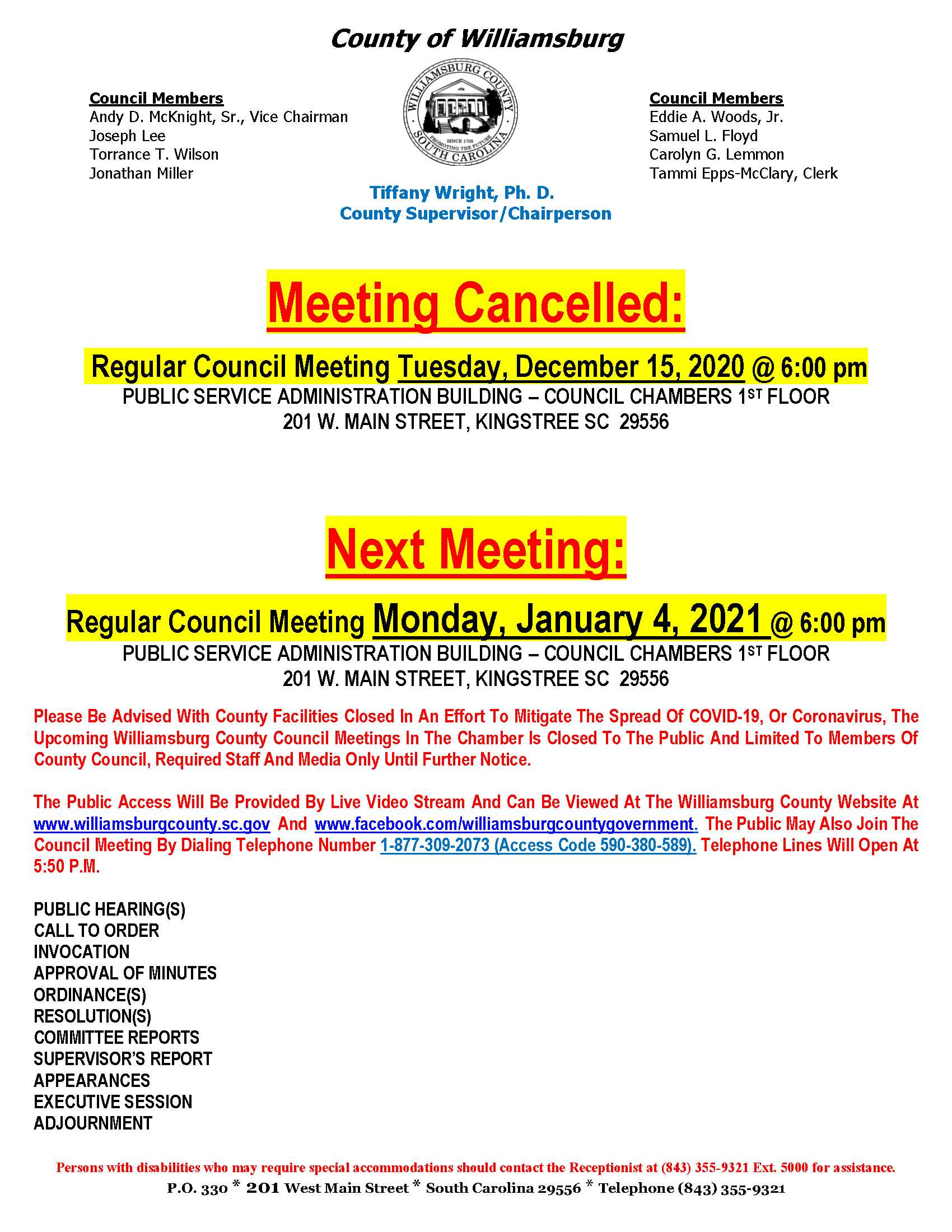 AGE-RCM 12-15-20 Cancelled