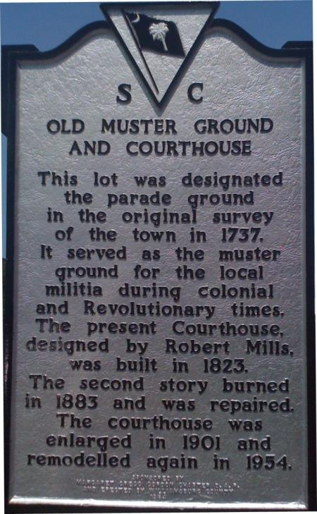 Old Muster Ground and Courthouse Historical Plaque